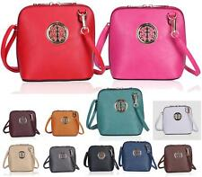 WOMENS SMALL VINTAGE FAUX LEATHER CROSS OVER SATCHEL LADIES BARREL BAG
