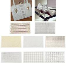 24x40cm Hot Fixing Iron On Beaded Glass Rhinestone Mesh Trims Applique Patches