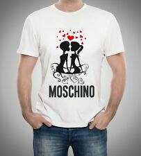 White Men Mens Modern Sexy New T-Shirt Tee In Love Moschino