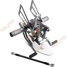 CNC Rearsets Adjustable Foot Pegs For Triumph Speed Triple 509 595 955 1050