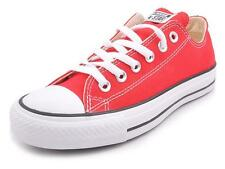 Converse Chuck Taylor All Star Red Low Shoes Trainers Sneakers Unisex Women Men