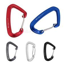 28KN Wire Gate Clip Carabiner for Rock Climbing Mountaineering Rescue Quickdraws