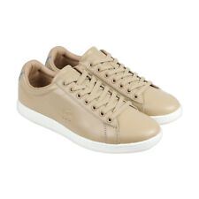 Lacoste Carnaby Evo 416 1 CAM Mens Brown Leather Lace Up Sneakers Shoes