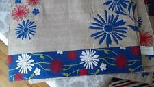 Set 4 Summer Flowers Placemats Red White BlueKhaki July 4th Patriotic