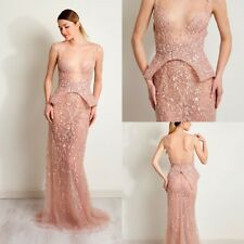 New Bridesmaids Evening Dress Lace Formal Cocktail Prom Gowns Sleeveless Custom