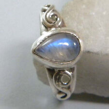 MOON STONE SOLID 925 STERLING SILVER HANDMADE PURE RING CUSTOM SIZE 5,6,7,8,9