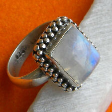 NATURAL MOON STONE 925 SOLID STERLING SILVER HANDMADE RING CUSTOM SIZE 5,6,7,8,9
