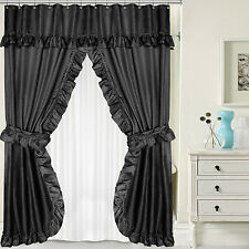 Sweet Home Collection Double Swag Shower Curtain Set