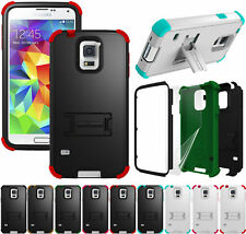 RUGGED TRI-SHIELD HARD CASE COVER STAND SCREEN PROTECTOR FOR SAMSUNG GALAXY S5