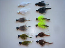 (12) DEADLY HANDTIED CRAPPIE/PANFISH FISHING JIGS 1/16,1/8,1/4Trout,walleye,bass