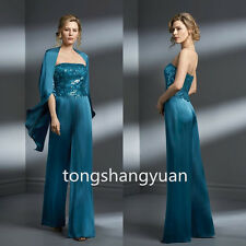 2 Pieces Chiffon Mother Of The Bride Dresses Sequins Evening Formal Gowns 2017