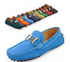mens Candy Colors Suede Flats Slip On Driving Moccasin LoaferS Casual Shoes size