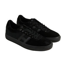 HUF Soto Mens Black Suede & Canvas Lace Up Lace Up Sneakers Shoes