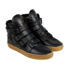 Radii Straight Jacket Vlc Mens Black Leather High Top Lace Up Sneakers Shoes