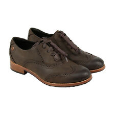Sebago Claremont Brouge Womens Black Suede Casual Dress Lace Up Oxfords Shoes