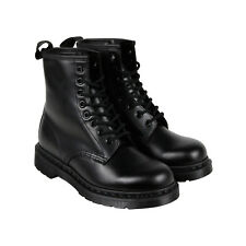 Dr. Martens 1460 Mono Mens Black Leather Casual Dress Lace Up Boots