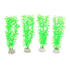 4pcs Plastic Aquarium Leaves Plants Fish Tank Water Plant Decoration