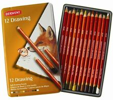 DERWENT COLOURED DRAWING PENCIL TINS - 6, 12 or 24 Made in Britain