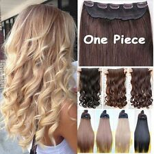 "100% Real 1Pcs Clip In Hair Extensions Real Natural 17-30"" Ombre Hairpiece Hc5"