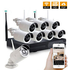 8CH 1080P NVR HD 960P IP Camera Home System KIT Outdoor Security IR Night Vision