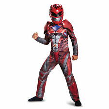 Disguise Red Power Ranger 2017 Movie Boys Classic Muscle Costume