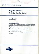 BR May Day Holiday Train Service alterations.1997