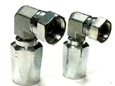 BSP 90° Elbow Hydraulic Field Fittings Reusable Two Wire Braid Fittings