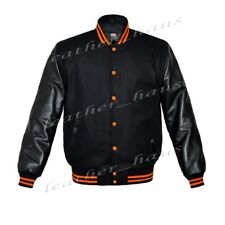 Original American Style Varsity Letterman College Baseball Leather Wool Jacket