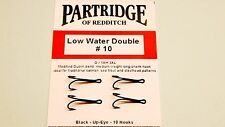PARTRIDGE 10 SALMON DOUBLE LOW WATER  FISHING HOOKS NEW CODE Q2 FROM FLYMAKERS
