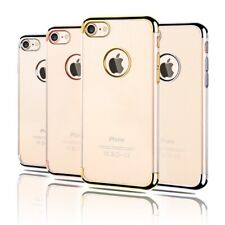 iPhone 8 7 Plus X 6S 5S Case, Electroplated Crystal CLEAR Tough Cover for Apple