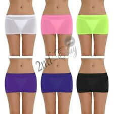 Women Stretch Micro Mini Skirt See Through Lingerie Sheer Costume Party Clubwear