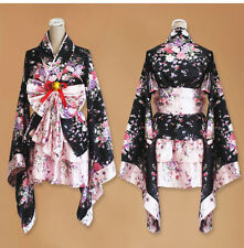 Women Anime Cosplay Costume Dress Kimono Japanese Lolita Maid Uniform Outfit