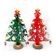 Christmas Xmas Height 18/26CM Celebrate Wood Decoration Christmas Tree Set B