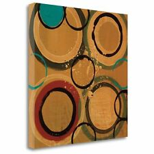 'Circle Designs II' by Leslie Bernsen Painting Print on Wrapped Canvas