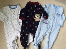 Baby Boy/Infant LOT of 3 Cotton Sleepers/Pajamas Size 6 Months