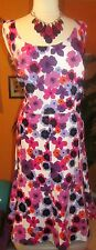 KATE HILL NWT $148 paisley womens dress pink purple sleeveless floral sundress