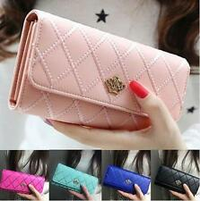 Clutch Wallet Holder Long Leather Purse Handbag New Lady PU Card Hot Women