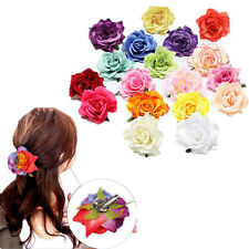 1pcs Hairpin Bridesmaid Wedding Party Bridal Hair Clip Rose Flower Women New
