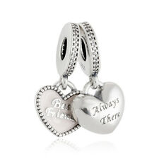 authentic 925 sterling silver Charms Enamel Heart Always Pendant Charm Bead