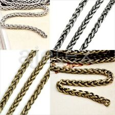 2M/6.56 feet Iron Antique Silver/Brass Curb Chain Unfinished Chains 4x4mm