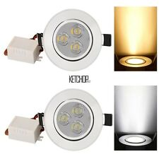 Hot!!9W 85-265V Warm White Cool White Silver LED Ceiling Recessed Down Light~~