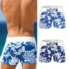 Mens Hawaiian Swim Trunks Boxer Surf Board Shorts Flower Printed Swimwear Pants