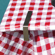 NEW Coleman Stainless Steel Picnic Table Tablecloth Clamps Fits Most Thicknesses