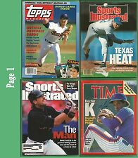 Nolan Ryan Topps Magazine Spring 1990 and OTHER Hall of Famer on Covers