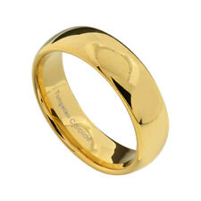 7mm Gold Plated Tungsten High Polish Jewelry Men's Wedding Band Ring Sz 7-13