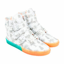 Radii Straight Jacket VLC Mens White Patent Leather High Top Sneakers Shoes