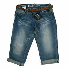 New Look Denim Yes Yes Shorts Blue Cropped Jeans Ladies Summer Turn Up Trousers