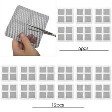 6/12PCS Insect Mosquito Door Window Mesh Screen Sticky Repair Patch Net Adhesive