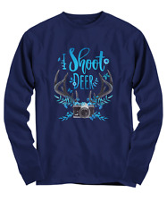 Beautiful Funny I Shoot Deer Photographer Shirt - Long Sleeve Tee