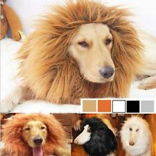 Pet Costume Lion Mane Wig Hair for Large Dog Halloween Clothes Fancy Dress up GG